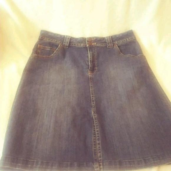 St. John's Bay Dresses & Skirts - St Johns Bay below the knee modest denim skirt 12